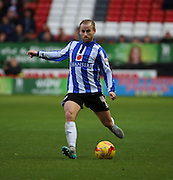 Sheffield Wednesday midfielder Barry Bannan trying to get Shef Wed back into the game during the Sky Bet Championship match between Charlton Athletic and Sheffield Wednesday at The Valley, London, England on 7 November 2015. Photo by Matthew Redman.