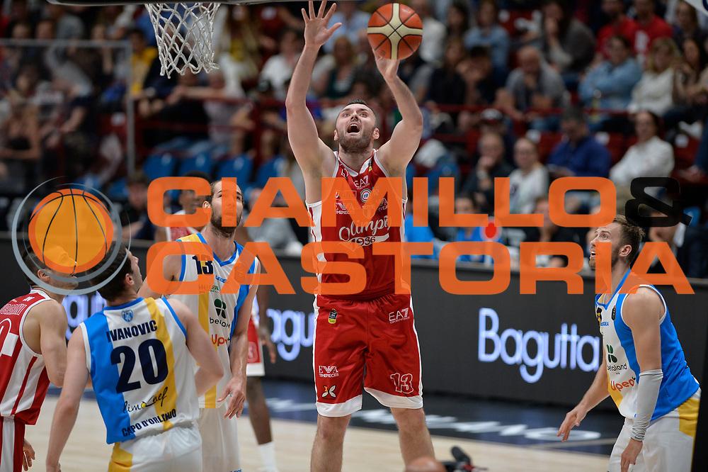 Milan Macvan<br /> Olimpia EA7 Emporio Armani Milano vs Vanoli Cremona<br /> Lega Basket Serie A 2016/2017<br /> PlayOff semifinale gara 2<br /> Milano 14/05/2017<br /> Foto Ciamillo-Castoria / I.Mancini