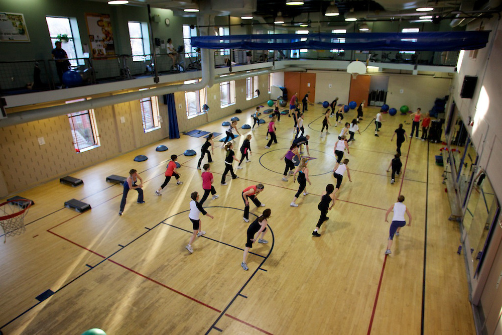 Members of the Westmount YMCA participate in the April 2010 YMCA Fitness Challenge