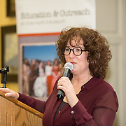 26.01.17<br /> Pictured at the launch of the Communities of Culture Report in The Hunt Museum was Monica Spencer. Picture: Alan Place