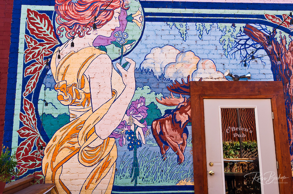Mural at O'brien's Pub, Ouray, Colorado