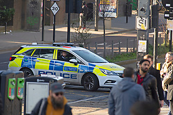 ©Licensed to London News Pictures 06/02/2020<br /> Croydon, UK. Parts of Croydon town centre near East Croydon station have been closed and cordoned off by police while they investigate an abandoned vehicle which has been parked on the pavement.  Photo credit: Grant Falvey/LNP
