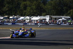 September 2, 2018 - Portland, Oregon, United Stated - ALEXANDER ROSSI (27) of the United States battles for position during the Portland International Raceway at Portland International Raceway in Portland, Oregon. (Credit Image: © Justin R. Noe Asp Inc/ASP via ZUMA Wire)