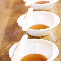 Hot stirs are a hot pour of maple syrup in a Styrofoam bowl. They give you a wooden spoon and you stir the syrup until it resembles peanut butter fudge in consistency and color.