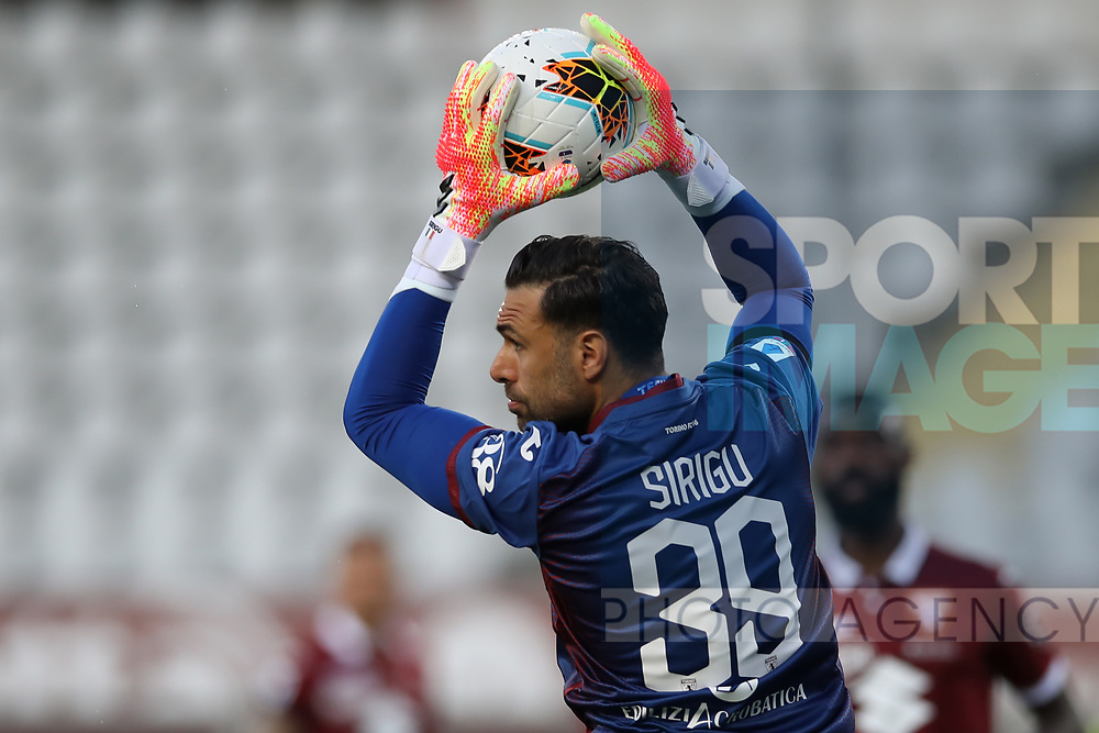 Torino FC's Italian goalkeeper Salvatore Sirigu gathers the ball form a cross during the Serie A match at Stadio Grande Torino, Turin. Picture date: 20th June 2020. Picture credit should read: Jonathan Moscrop/Sportimage
