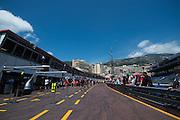 May 25-29, 2016: Monaco Grand Prix. Monaco pitlane