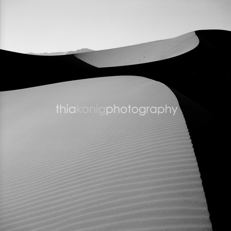 Dramatic shot of sand dune at Sossusvlei in the Namib desert, Namibia, Africa.