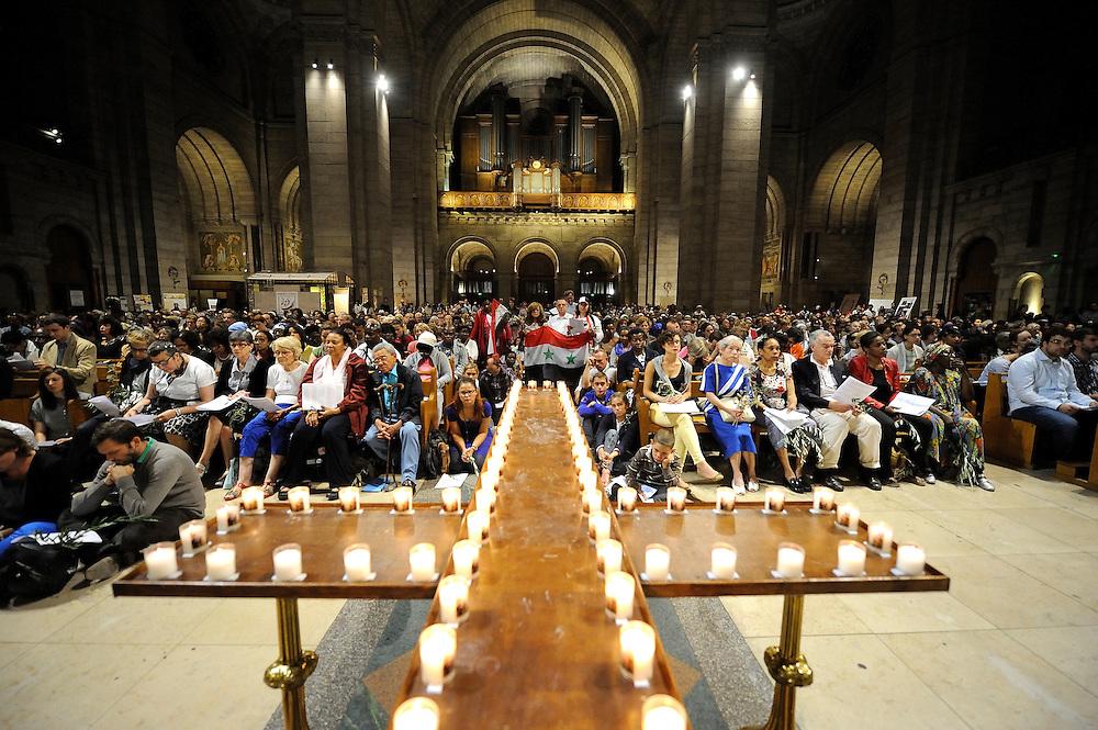 Appel du pape Fran&ccedil;ois &agrave; la priere pour la paix en Syrie<br /> , le 07 septembre 2013 &agrave; la Basilique du Sacr&eacute;e Coeur.