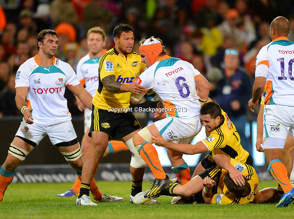 Heinrich Brussow of the Cheetahs during the Super Rugby match between the Cheetahs and the Hurricanes at the Free State Stadium in Bloemfontein on May 10, 2013©Barry Aldworth/BackpagePix