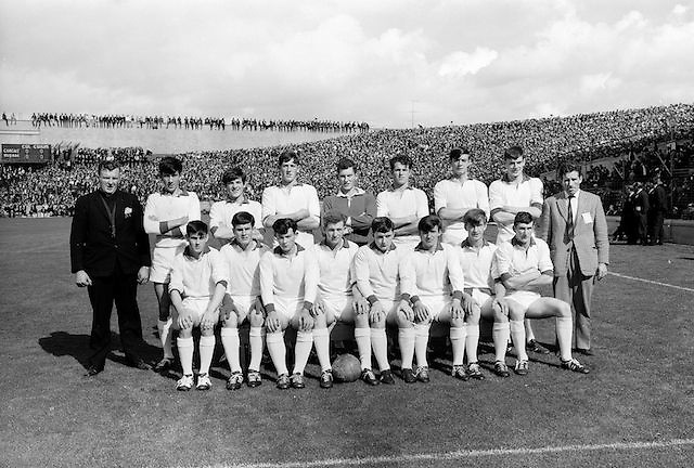 The Cork team before the All Ireland Minor Gaelic Football Final Sligo v. Cork in Croke Park on the 22nd September 1968. Cork 3-5, Sligo 1-10.