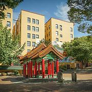 Hing Hay Park in Chinatown-International District, Seattle, WA.