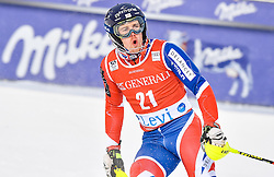 13.11.2016, Black Race Course, Levi, FIN, FIS Weltcup Ski Alpin, Levi, Slalom, Herren, 2. Lauf, im Bild Dave Ryding (GBR) // Dave Ryding of United Kingdom  reacts after his 2nd run of mens Slalom of FIS ski alpine world cup at the Black Race Course in Levi, Finland on 2016/11/13. EXPA Pictures © 2016, PhotoCredit: EXPA/ Nisse Schmidt<br /> <br /> *****ATTENTION - OUT of SWE*****
