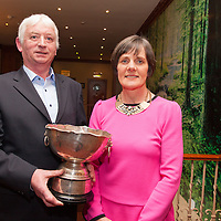 Bernie Fitzpatrick with his wife Anne. Bernie was a member of the Inagh/Kilnamona winning team of 1996, pictured with the current Junior A Football Cup