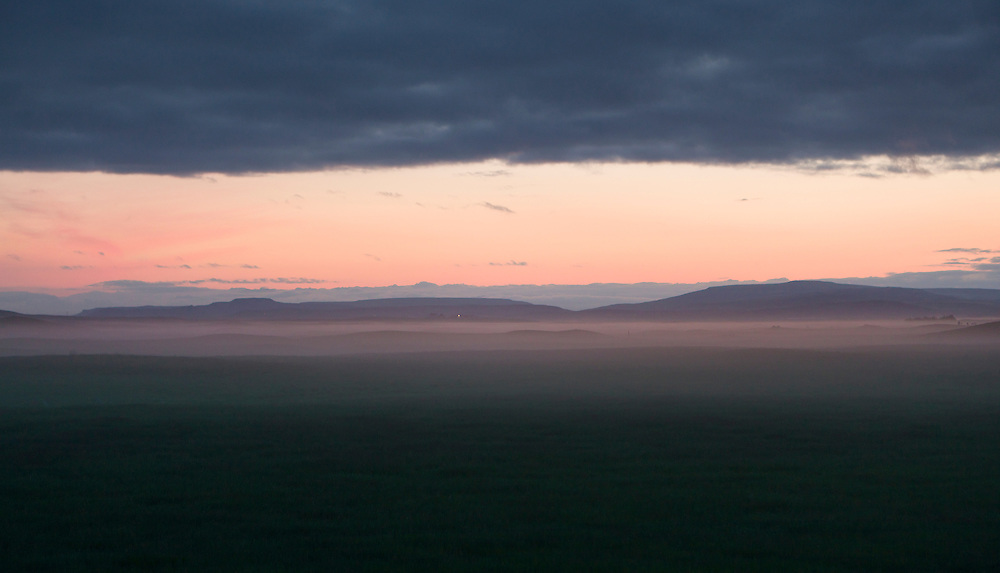 Landscape in night fogg