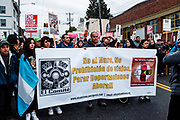 May Day March for Workers and Immigrant Rights. Seattle, WA. May 1, 2017.