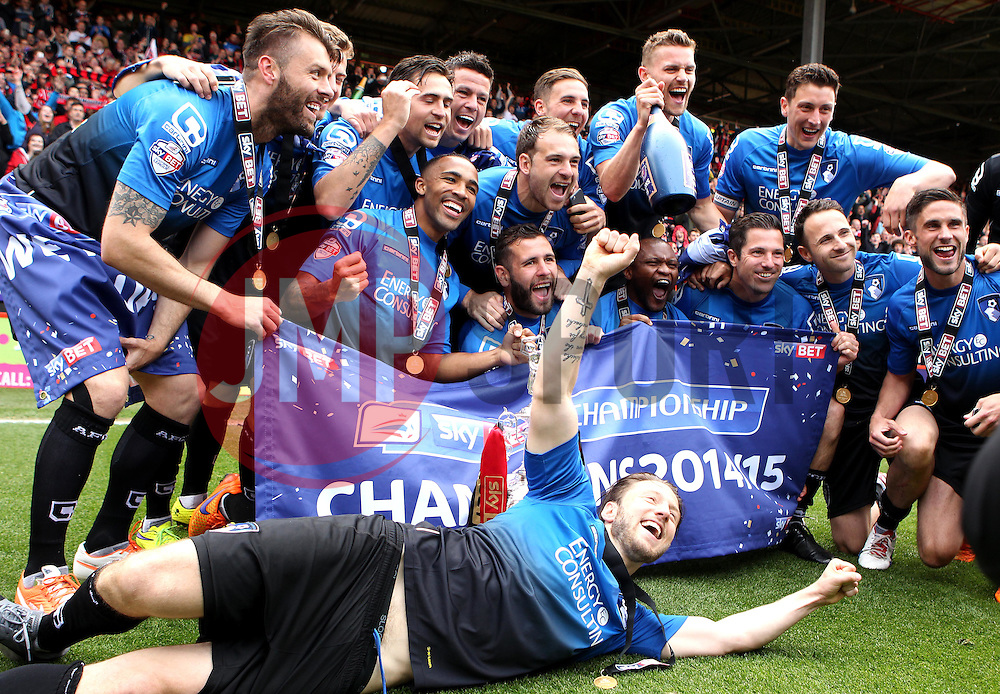 AFC Bournemouth celebrate being Champions - Photo mandatory by-line: Robbie Stephenson/JMP - Mobile: 07966 386802 - 02/05/2015 - SPORT - Football - Charlton - The Valley - Charlton v AFC Bournemouth - Sky Bet Championsip