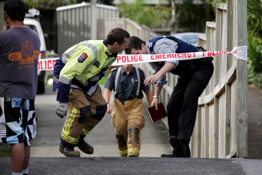 Police and the Department of Labour are investigating how a contractor working on a home renovation was electrocuted and taken to hospital from an Epsom home, Auckland, New Zealand, Wednesday, December 07, 2011. Credit:SNPA /  Bradley Ambrose..