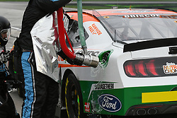February 23, 2019 - Hampton, GA, U.S. - HAMPTON, GA - FEBRUARY 23: SUNOCO Gasoline spills from the car of Chase Briscoe, Stewart-Haas Racing, Ford Mustang Ford Nutri Chomps/Chewy.com (98) during the Xfinity Series Rinnai 250 on February 23, 2019, at Atlanta Motor Speedway in Hampton, GA.(Photo by Jeffrey Vest/Icon Sportswire) (Credit Image: © Jeffrey Vest/Icon SMI via ZUMA Press)