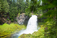 Sahalie Falls on the McKenzie River, Oregon.