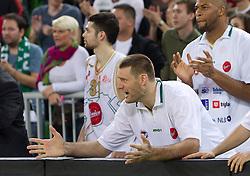 Goran Jagodnik (12) of Olimpija  during basketball match between KK Union Olimpija (SLO) and Panathinaikos (GRE) in Group D of Turkish Airlines Euroleague, on November 4, 2010 in Arena Stozice, Ljubljana, Slovenia. Union Olimpija defeated Panathinaikos 85-84. (Photo By Vid Ponikvar / Sportida.com)
