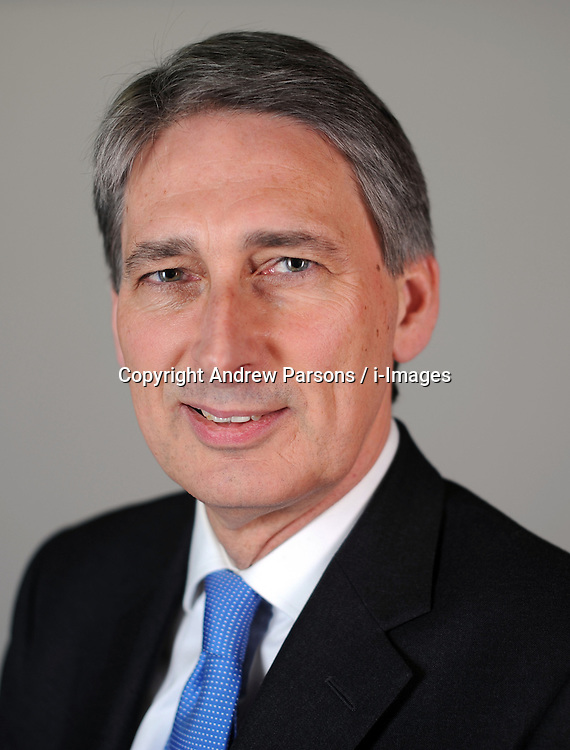 Portrait of Philip Hammond, Member of Parliament for Runnymede and Weybridge, January 12, 2010. Photo By Andrew Parsons / i-Images.