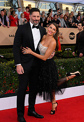 January 29, 2017 - Los Angeles, California, United States - Joe Manganiello, left, and Sofia Vergara on the red carpet at 23rd Annual Screen Actors Guild Awards  at The Shrine Expo Hall in Los Angeles on Sunday, January 29, 2017. (Credit Image: © John Mccoy/Los Angeles Daily News via ZUMA Wire)