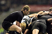 2004_'The Gartmore Challenge' - Barbarians_vs_New-Zealand..All Black scrum half Jimmy Cowan feeds the ball into the scrum..04.12.2004 Photo  Peter Spurrier. .email images@intersport-images.com...