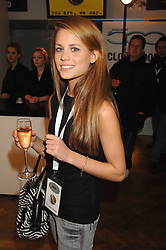 IRENE FORTE at a party to celebrate the launch of the new Fiat 500 car held at the London Eye, Westminster Bridge Road, London on 21st January 2008.<br />