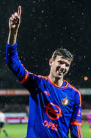 ROTTERDAM - SBV Excelsior - Feyenoord , Voetbal , Seizoen 2015/2016 , Eredivisie , Stadion Woudestein , 28-11-2015 , Speler van Feyenoord Michiel Kramer viert de 1-4 zijn 3e doelpunt