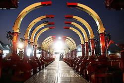 Setor de máquinas no segundo dia da 38ª Expointer, que ocorrerá entre 29 de agosto e 06 de setembro de 2015 no Parque de Exposições Assis Brasil, em Esteio. FOTO:Pedro H. Tesch/ Agência Preview