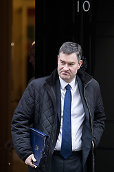 © Licensed to London News Pictures. 30/01/2018. London, UK. Justice Secretary David Gauke leaving Downing Street after attending a Cabinet meeting this morning. Photo credit : Tom Nicholson/LNP