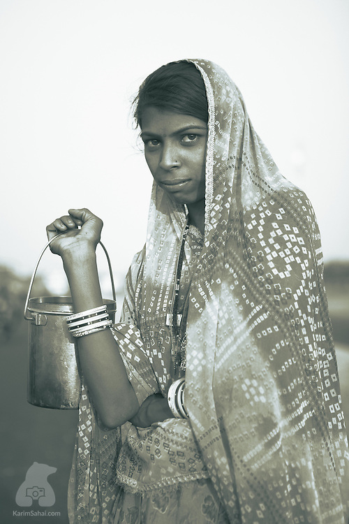 Young woman from Rajasthan, India.