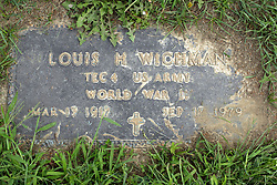 31 August 2017:   Veterans graves in Park Hill Cemetery in eastern McLean County.<br /> <br /> Louis H Wichman  Tec4  US Army  World War II  Mar 13 1917  Sep 17 1979