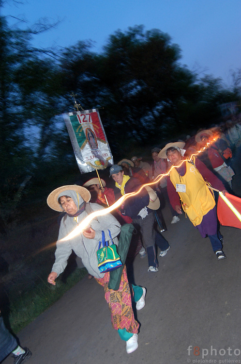 Every year thousands of men and women, walk from all the states of Mexico to La Villa, were is located the Virgin Guadalupe&acute;s image. The pilgrims walk about 50 kilometers everyday.<br /> The peregrination from Queretaro is the biggest in the country.