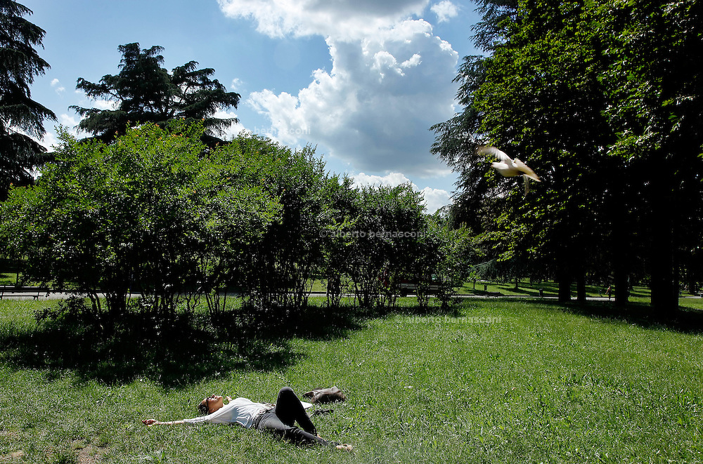 "Bologna, relaxing at "" Giardini Margherita"""