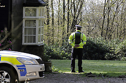 © Licensed to London News Pictures. 08/04/2014<br /> Peaches Geldof Death.<br /> police officer standing at the side of the property.<br /> Police outside the home of Peaches Geldof this morning (08.04.2014) after she died yesterday at the age of 25 years.<br /> Photo credit :Grant Falvey/LNP