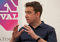 Mark Little at the 'Truth Matters: Media in an Age of Fake News' discussion at the Dalkey Book Festival, Dalkey, County Dublin, Ireland, Saturday 17th June 2017. Photo credit: Doreen Kennedy