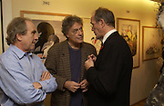 Gerald Scarfe, Tom stoppard and Sandy Nairne. Gerald Scarfe Book launch and exhibition. Fine art Society. New Bond St. London. 3 November 2005. . ONE TIME USE ONLY - DO NOT ARCHIVE © Copyright Photograph by Dafydd Jones 66 Stockwell Park Rd. London SW9 0DA Tel 020 7733 0108 www.dafjones.com