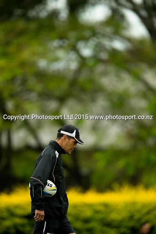 l-r Stephen Kearney during the Kiwis Captains Run , Brisbane ,Australia on April 30, 2015. Copyright Photo: Patrick Hamilton/ www.Photosport.co.nz