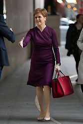 © Licensed to London News Pictures. 08/12/2019. London, UK. First Minister of Scotland Nicola Sturgeon arrives at the BBC. Later she will appear on the Andrew Marr Show. Photo credit: George Cracknell Wright/LNP