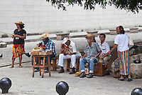 A group of Cuban musicians play on the streets of Old Havana, Cuba.
