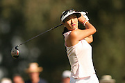 March 27, 2005; Rancho Mirage, CA, USA;  Grace Park tees off at the 2nd hole during the final round of the LPGA Kraft Nabisco golf tournament held at Mission Hills Country Club.  Park finished the day with a 5 under par 67 and finished tied for 5th with an overall score of 4 under par 284.<br />Mandatory Credit: Photo by Darrell Miho <br />&copy; Copyright Darrell Miho