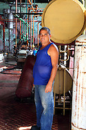 The man who runs the ice making plant in Hershey ( Camilo Cienfuegos ), Mayabeque, Cuba.