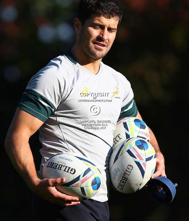 LONDON, ENGLAND - OCTOBER 12: Morne Steyn during the South African national rugby team training session at Pennyhill Park on October 12, 2015 in London, England. (Photo by Steve Haag/Gallo Images)