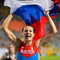 Athletics - IAAF World Championships 2013 - Stadium Loujniki , Moscow , RUSSIA - 10 to 18/08/2013 - Photo JULIEN CROSNIER / KMSP / DPPI - Day 4 - 13/08/13 - Pole Vault Women - Elena Isinbaeva (RUS) / Gold Medal