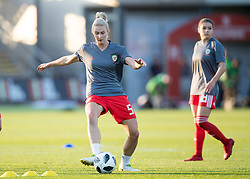 NEWPORT, WALES - Thursday, August 30, 2018: Wales' Rhiannon Roberts warms up ahead of the FIFA Women's World Cup 2019 Qualifying Round Group 1 match between Wales and England at Rodney Parade. (Pic by Laura Malkin/Propaganda)