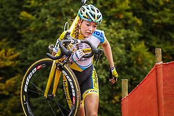 Sophie DE BOER (NED) of Telenet Fidea at the 1st Cyclo-cross World Cup stage - Valkenburg, Netherlands - 20th October 2013 - Photo by Thomas van Bracht / Peloton Photos