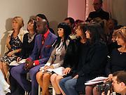 Ozwald Boateng, christina Aguilera , Givenchy couture show, Julian Macdonald's last ( ?)  Paris, 20 January 2004. © Copyright Photograph by Dafydd Jones 66 Stockwell Park Rd. London SW9 0DA Tel 020 7733 0108 www.dafjones.com