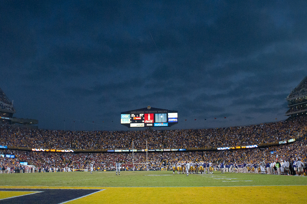 LSU Tigers stadium during the second half  of the football game. LSU Tigers defeated Mississippi Rebels 43-36.
