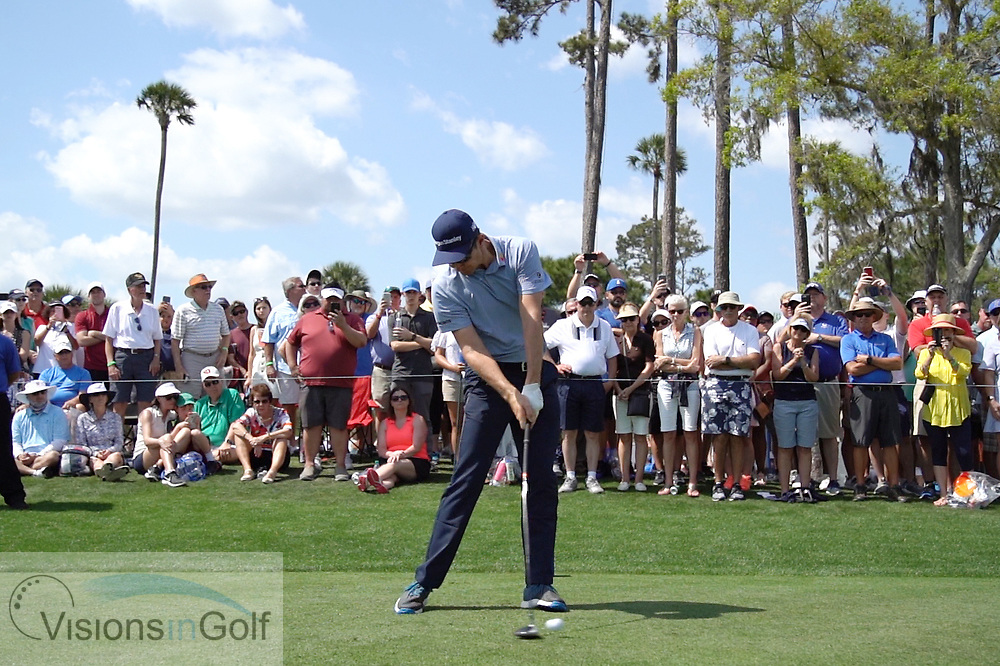 Justin Rose<br /> with driver face on<br /> High speed swing sequence<br /> 2019<br /> <br /> Pictures Credit: Mark Newcombe/visionsingolf.com